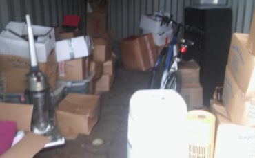 full of rubbish storage container grays essex