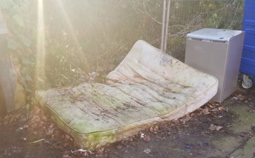 dumped mattress and fridge in purfleet essex