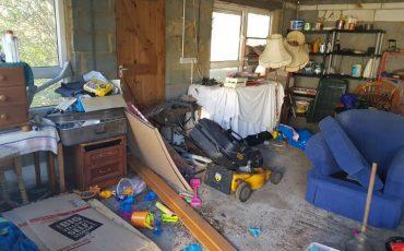 RUBBISH IN GARAGE IN BRENTWOOD ESSEX