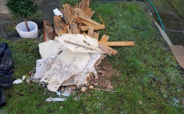 chafford hundred garden rubbish pile